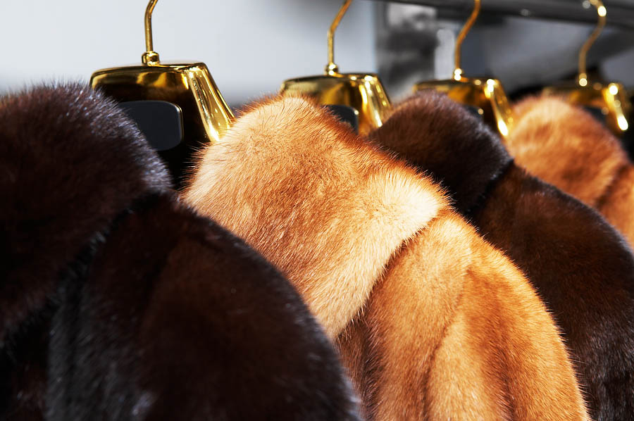 We clean fur coats for the nation from our Michigan location