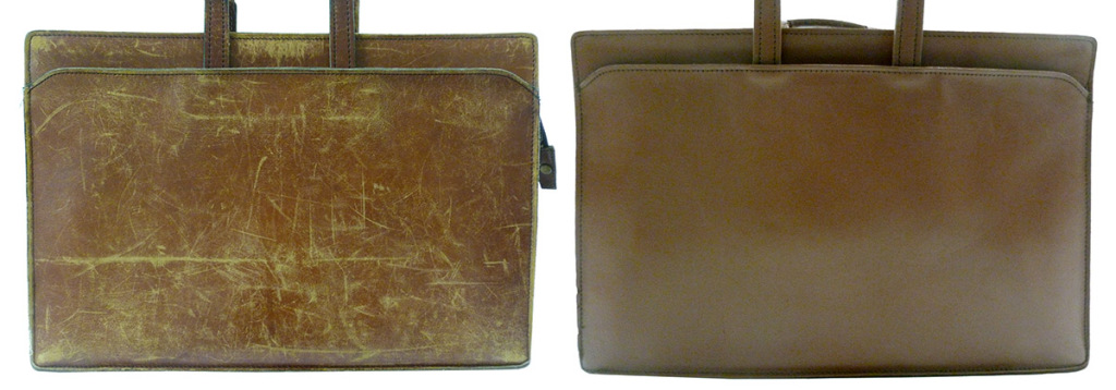 A well used leather briefcase can be restored to its original beauty