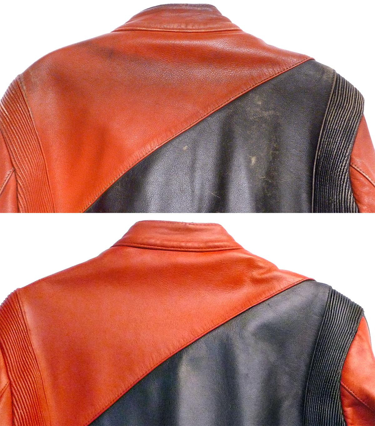 We were able to clean and refinish the motocross jacket to bring it back to life