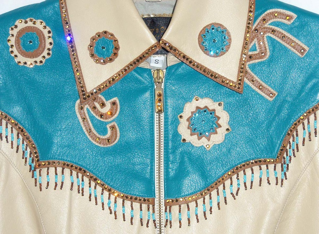 Equestrian western vest with letter applique and beadwork