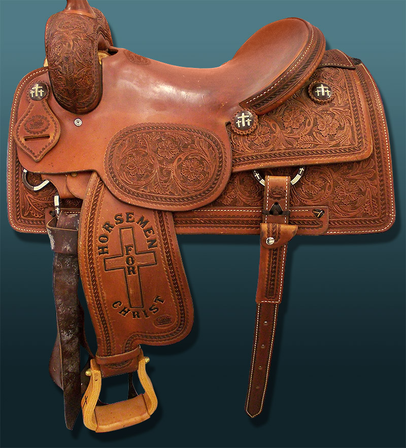 A western saddle we recently cleaned
