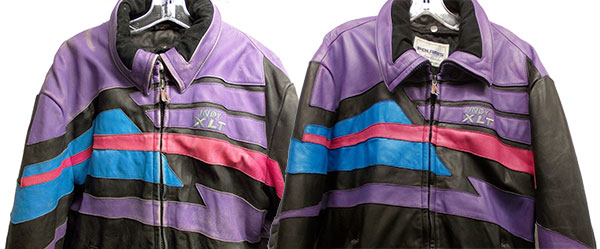 Snowmobile Coat Before and After Cleaning