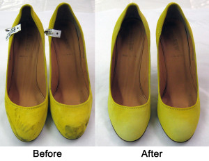 Green Shoes Before and After